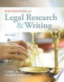 Foundations of Legal Research and Writing