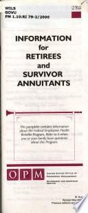 Information for Retirees and Survivor Annuitants about the Federal Employees Health Benefits Program