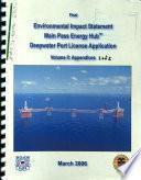 Main Pass Energy Hub Deepwater Port License Application