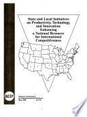 State and Local Initiatives on Productivity, Technology, and Innovation