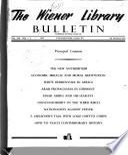 The Wiener Library Bulletin