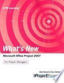 What's New Microsoft Office Project 2007