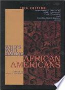 Who's who Among Black Americans